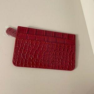 ❣️$10 in bundle❣️B-Low the Belt Croc Card Case